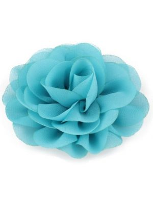 Chiffon Rose - Hair Clips - Turquoise