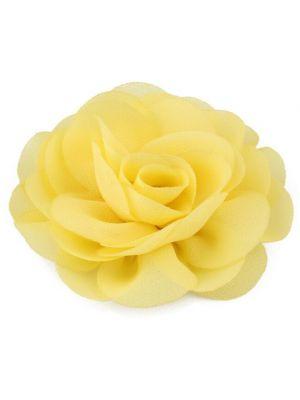 Chiffon Rose - Hair Clips - Yellow