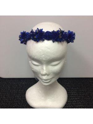 Flower Garland - Royal Blue