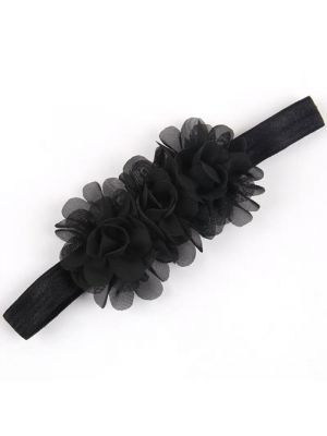 Ruffle Headband - Black