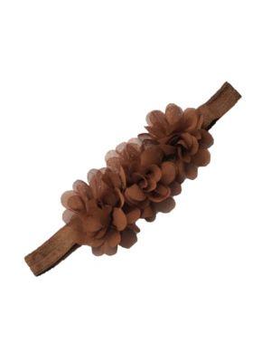 Ruffle Headband - Coffee