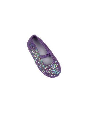 Sequinned Shoes - Mauve