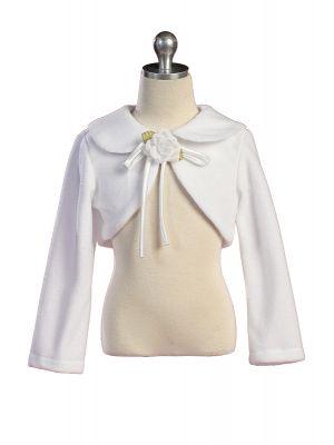 Fleece Bolero Jacket - White