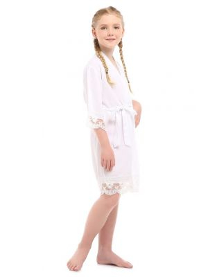 Lace Robe - White