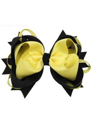 Black/Yellow Bow Clip